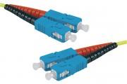 Jarretière optique duplex HD mono OS2 9/125 SC-UPC/SC-UPC jaune - 2 m