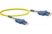 Jarretière optique duplex UHD uniboot OS2 9/125 LC-UPC/LC-UPC jaune - 1 m