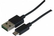 Cordon réversible USB 2.0 type  A/  micro B - 3M